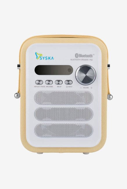 Syska P50 2.5 W Bluetooth Speaker (Yellow)