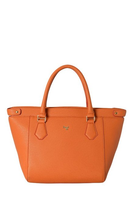 Baggit L Crusty Y G Flori Orange Shoulder Bag