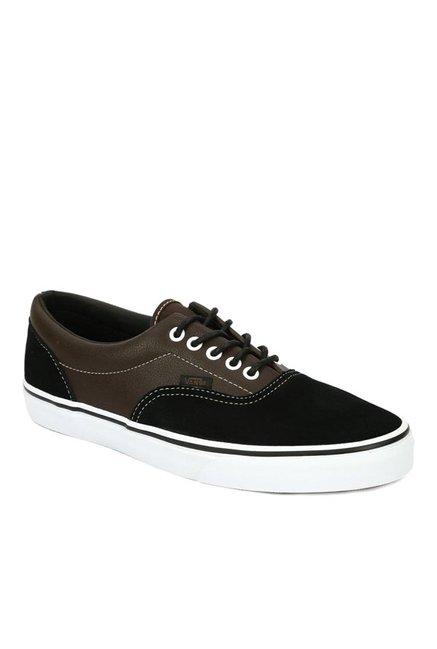 56210d104107a0 Buy Vans Classics Era Black   Dark Brown Sneakers for Men at Best ...