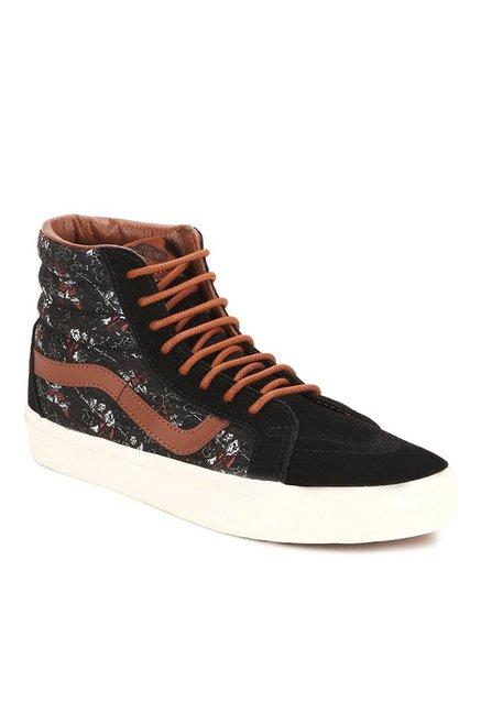 581e99cd655 Buy Vans Classics Sk8-hi Reissue Black   Tan Ankle High Sneakers ...