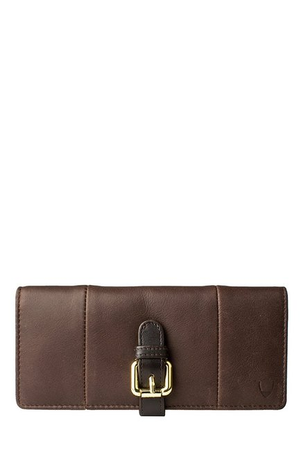 Hidesign Topaz W1 Dark Brown Paneled Leather Bi-Fold Wallet