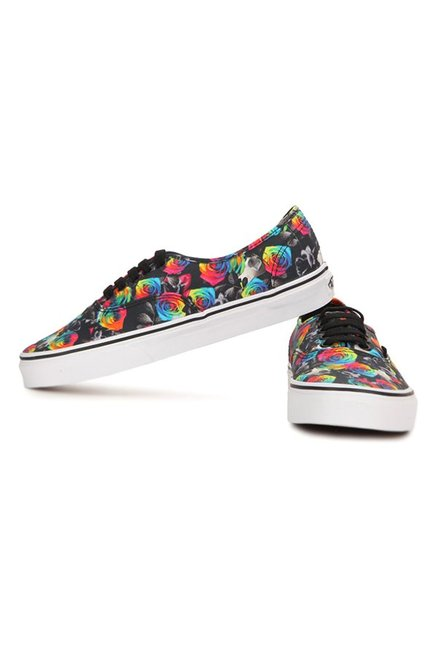 491e7dd0b6 Buy Vans Authentic Rainbow Floral Black   Pink Sneakers for Women at ...