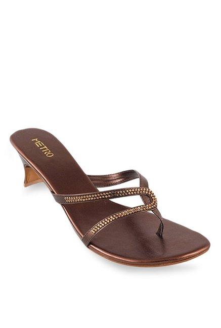 126c179d036 Buy Metro Bronze Casual Sandals for Women at Best Price   Tata CLiQ