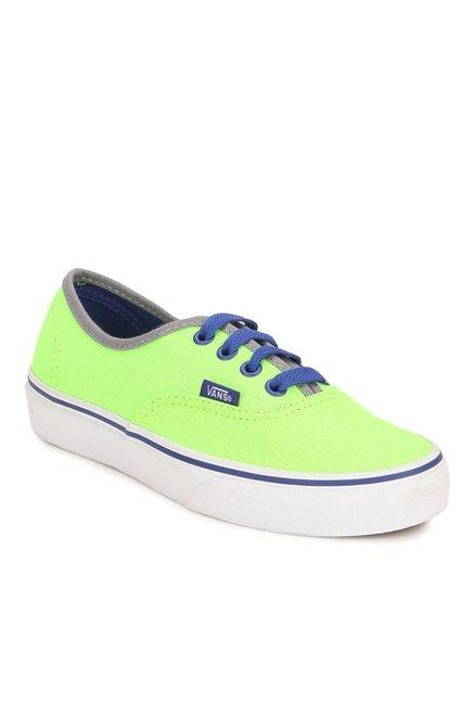 3da64853ff9e78 Buy Vans Classics Authentic Neon Green   Blue Sneakers for Men at Best  Price   Tata CLiQ