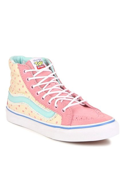 Buy Vans SK8-Hi Toy Story Bo Peep Pink   Yellow Sneakers for ... c9c7bb13b