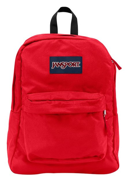 JanSport Superbreak Red Polyester Backpack
