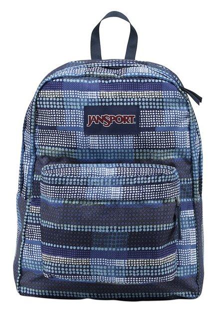 JanSport Superbreak Navy & Black Polka Dot Backpack