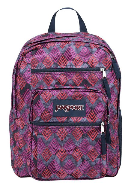 JanSport Big Student Purple Diamond Arrows Printed Backpack