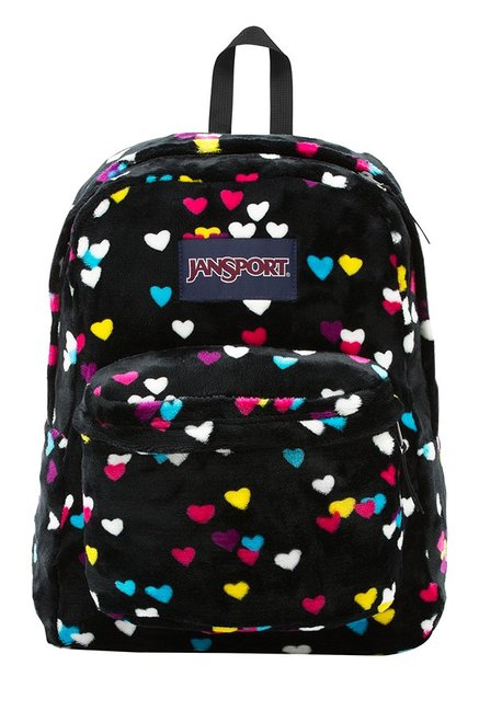JanSport High Stakes Black First Love Printed Backpack