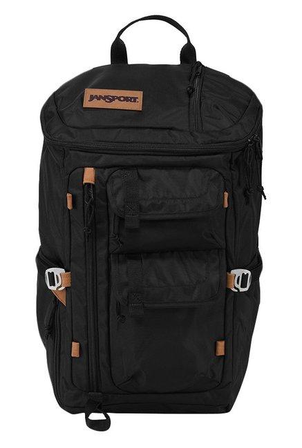 JanSport Watchtower Black Polyester Unisex Laptop Backpack
