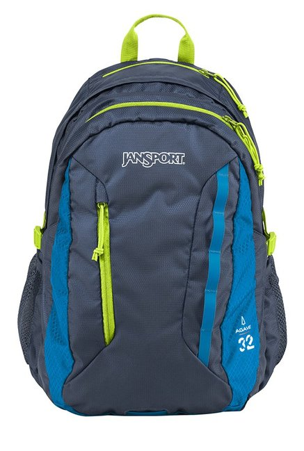 JanSport Agave Navy & Lime Punch Unisex Laptop Backpack
