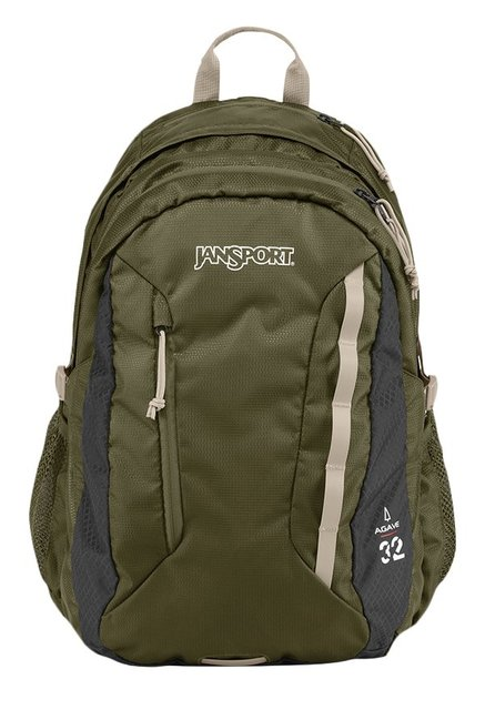 JanSport Agave Olive Green & Dark Grey Unisex Backpack