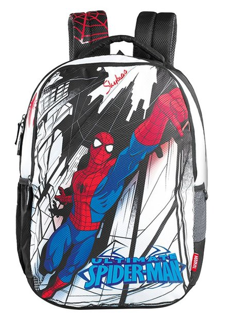 8953ab59af14 Buy Skybags Marvel Spiderman 05 White   Black Printed Backpack For Men At  Best Price   Tata CLiQ