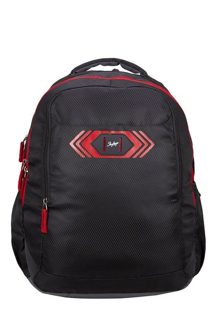 Skybags Footloose Viber 02 Black Textured Polyester Backpack