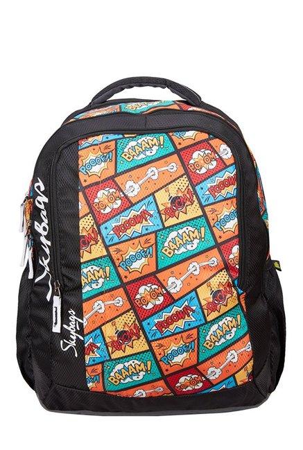 Skybags Footloose Helix Plus 01 Black Printed Backpack