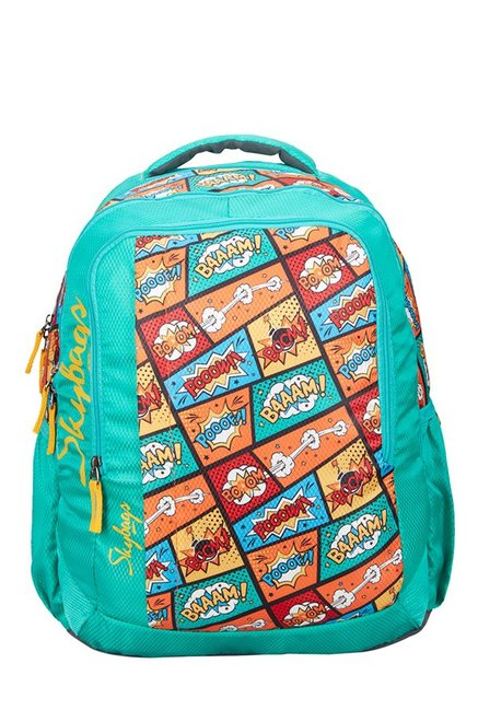 Skybags Footloose Helix Plus 01 Turquoise Printed Backpack