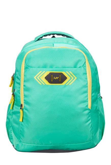Skybags Footloose Viber 02 Green Textured Polyester Backpack