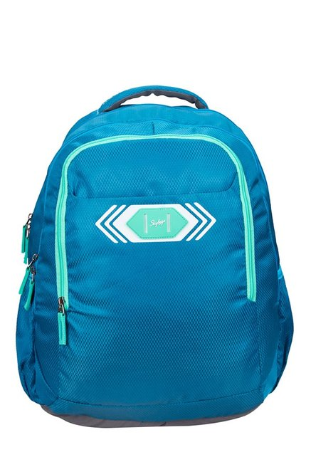 Skybags Footloose Viber 02 Blue Textured Polyester Backpack