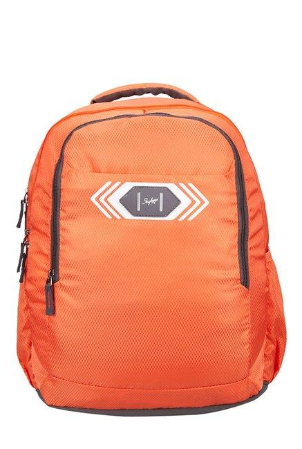 Skybags Footloose Viber 02 Orange Textured Backpack