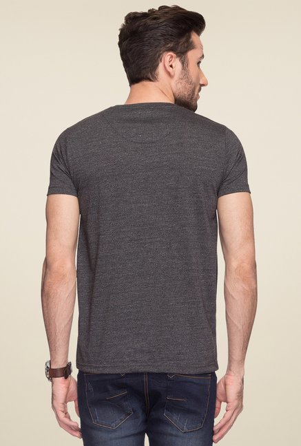 Status Quo Dark Grey Printed T-Shirt