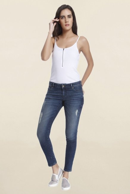 Vero Moda Navy Slim Fit Low Rise Jeans