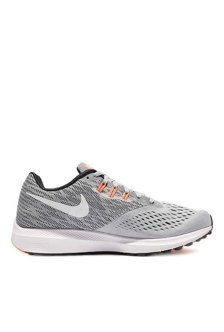 0f4a9cb28550b Buy Nike Zoom Winflo 4 Light Grey Running Shoes for Men at Best ...