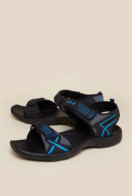 09f1058bfa16 Zudio Black Floater Sandals For Men Online At Tata Cliq