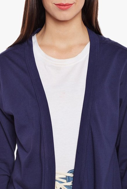 MEEE Navy Full Sleeves Shrug