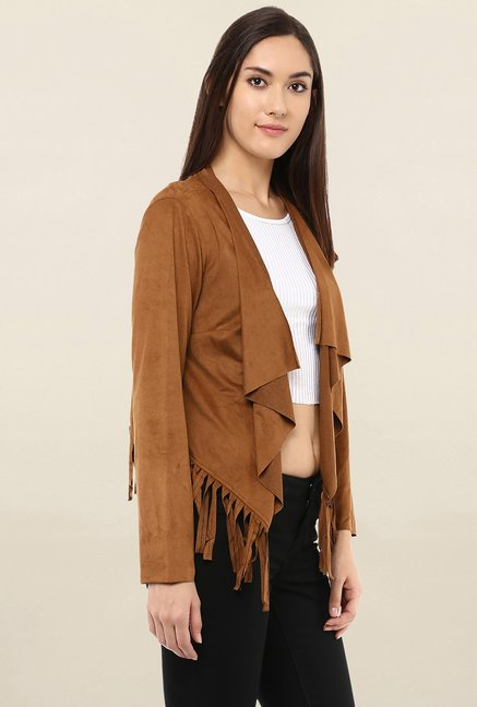 109 F Tan Full Sleeves Shrug