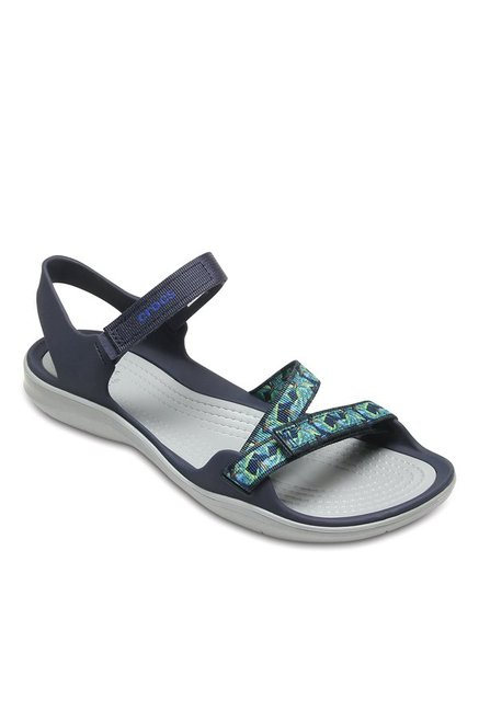 a8f388640 Buy Crocs Swiftwater Navy Blue Floater Sandals for Women at Best ...