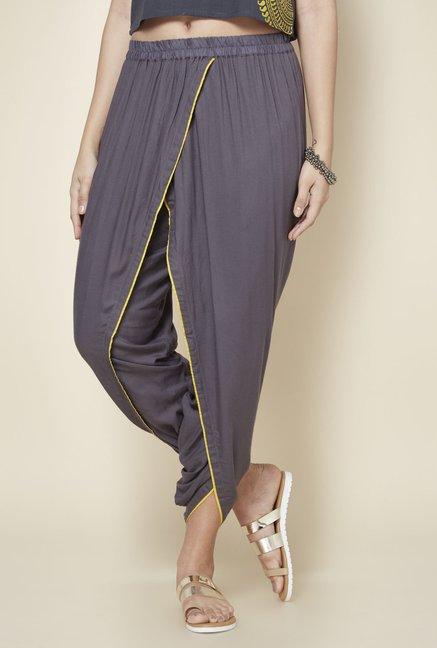 62f4bae02c Buy Zudio Grey Slim Fit Dhoti Pants for Women Online @ Tata CLiQ