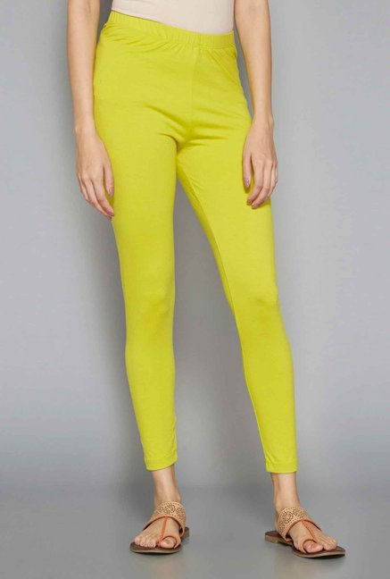 Utsa by Westside Lime Green Leggings