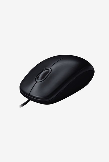 Logitech B100 Optical Wired Mouse  Black