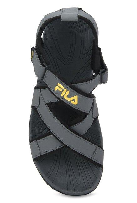 II Grey \u0026 Black Floater Sandals