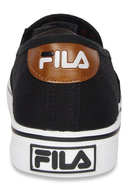 Buy Fila Relaxer V Black Plimsolls For