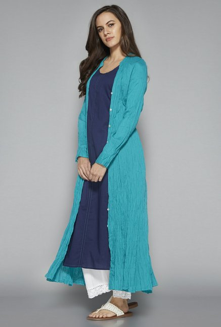Utsa by Westside Turquoise Pure Cotton Kurta Set