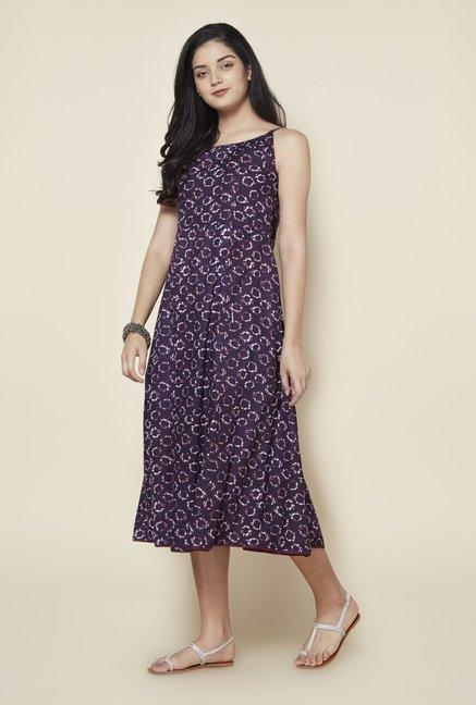 df4d4cd62a78d Buy Zudio Wine Pure Cotton Dress for Women Online @ Tata CLiQ