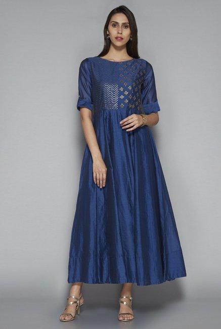 17ffc141069 Buy Vark by Westside Indigo Ethnic Maxi Dress for Women Online   Tata CLiQ