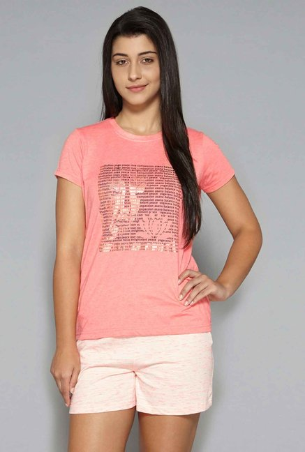 4e1635686f59 Buy Westsport by Westside Coral T-Shirt for Women Online   Tata CLiQ