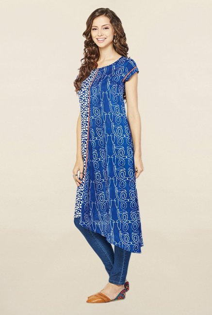 Global Desi Indigo Printed Tunic