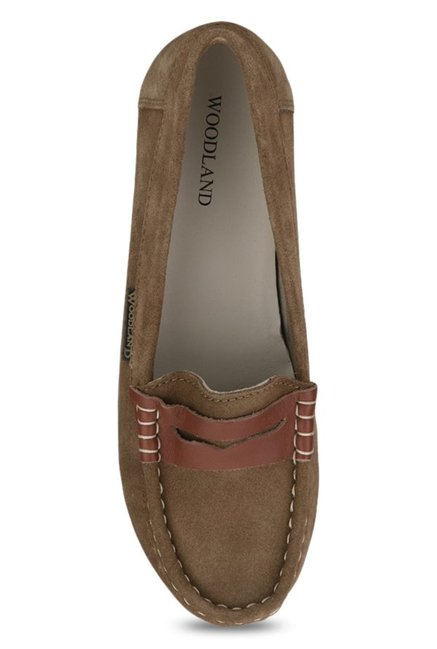 Woodland Camel Brown Loafers