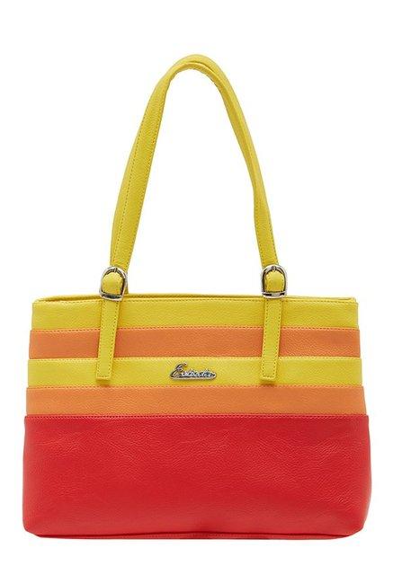 Esbeda Red & Yellow Striped Shoulder Bag
