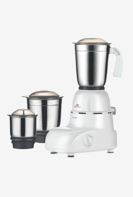 Bajaj Glory 500W 3 Jars Mixer Grinder  White