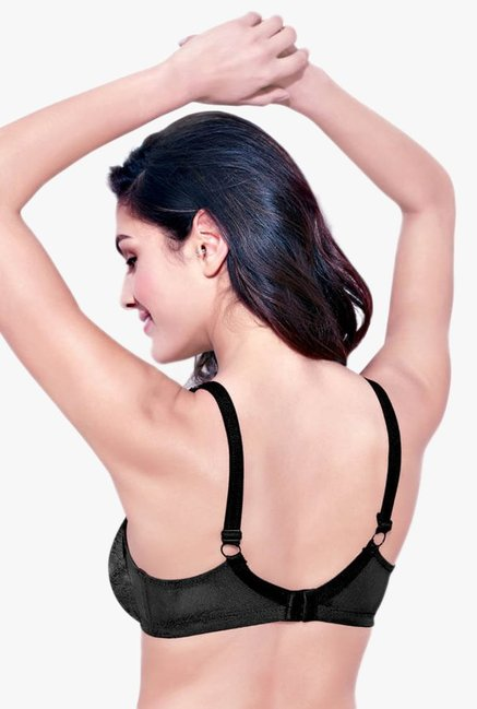Enamor Black Non Wired Non Padded Full Coverage Bra