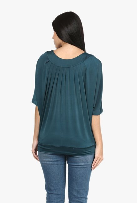 Mayra Green Round Neck Top