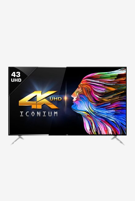 Vu 43BU113 109 cm (43 Inch) 4K Ultra HD Smart LED TV (Black) (3 Years Warranty)