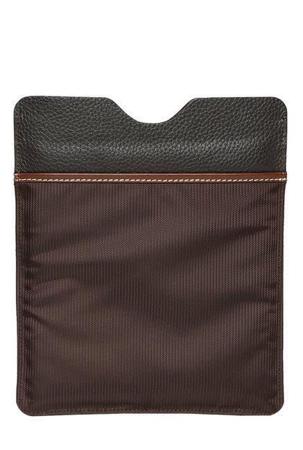 Viari Lombardy Brown Solid Nylon iPad Sleeve