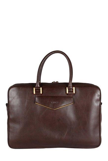 Viari Gekko Chestnut Leather Laptop Messenger Bag