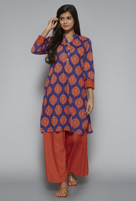 Utsa by Westside Blue Kurta