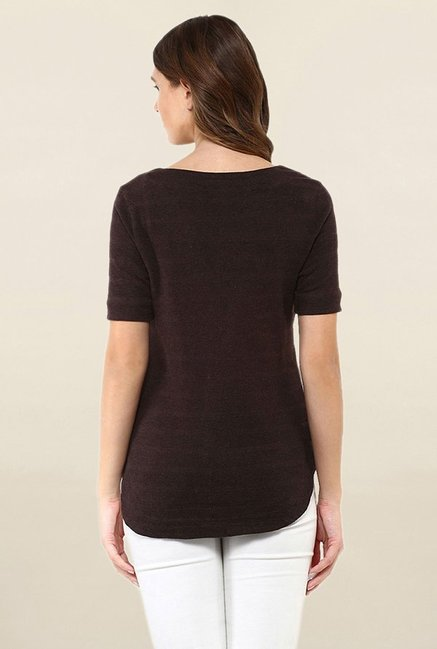 Postfold Brown Embellished Top